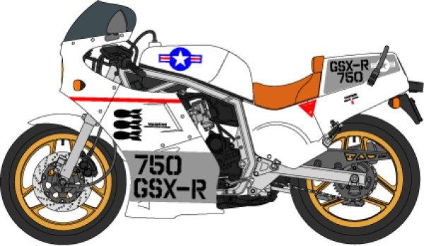 画像1: 1/12スズキ GSX-R750 GAGカラーデカール (1)